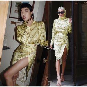 Brand new Ronny Kobo Kaira Long Sleeve Silk Dress